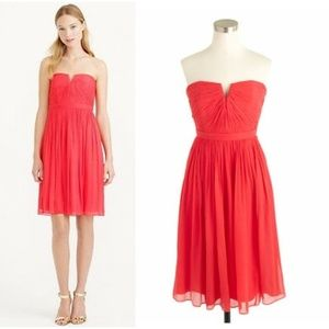 J Crew Nadia Silk Chiffon Dress